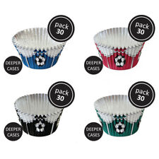 PME 30pk Football Foil Standard Cupcake Cup Cake Muffin Party Baking Cases