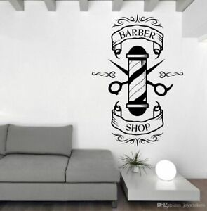 Barbers shop sign vinyl wall sticker from small to large