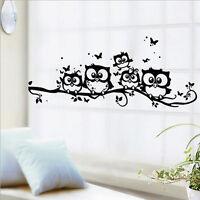 Room Wall Sticker Removable Owl Cartoon Art Vinyl Decal Kids Nursery Home Decor
