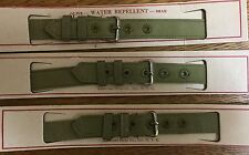 Ca 1940's WWII World War 2 Watch Band Canvas Strap NOS 1/2 in Wide