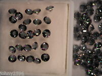 mystic quartz loose gemstones 4mm round cut magic green 99p each stone.