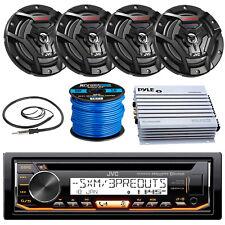 "JVC KDR99MBS Marine CD Player, 2x 100-W 6.5"" Speaker, Amplifier, Antenna, Wire"