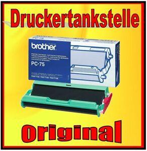 3x Original Brother PC-75 Thermo Transfer Roll Fax T102 T104 T106 Nip