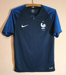2018 NIKE France National Team Football Dri-Fit Jersey T-Shirt Soccer FFF Size S