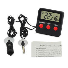 Digital Thermometer Hygrometer In/Outdoor Temperature Humidity Tester with Probe
