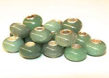 Aventurin Grün NATUR 925 Sterling Silber Bead Beads Donut Edelsteine Charme