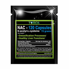 NAC 72 Grams - 120 Caps Liver Support (N-acetyl-L-cysteine) 1-3 Months