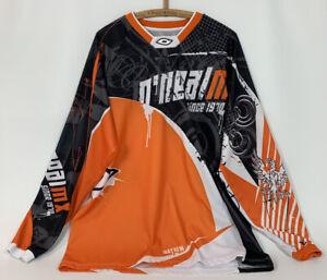 O'Neal Mayhem Motocross Jersey Dirt Bike Race MX Shirt Long Sleeves Orange Sz L