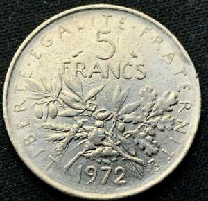 1972 France   5 Francs    Copper nickel    Coin    #K348