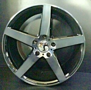 """18"""" Vossen Style Wheels Black And Machined Suit Commodore VE, VZ- 18x8 5/120 35P"""