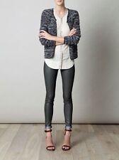 "ISABEL MARANT ""Momo"" Striped Boucle Knit Jacket SZ 36 $495 Wool Blend Tweed"