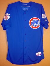 Chicago Cubs Mike Borzello Blue #58 Game Worn Mlb Jersey w/Santo Patch & Pants