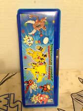 Vintage Pencil Case Pokemon Nintendo Pocket Monsters Used GC Double Sided