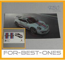 NEU original Porsche Hologramm Karte Aufkleber Martini Racing Decal Sticker