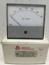 Triplett Corporation 420-G Rectifier Panel Meter 0-300 ACV Volts ELS