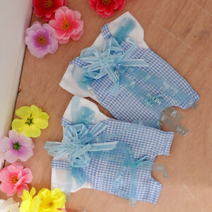 6x Baby Shower Bowknot Candy Bags Gift Box Baptism Birthday Party Decoration