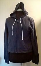 Hollister Hoodie Knit Sweater Gray Long Sleeves Front Pocket Womens Small