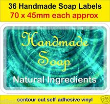 No4 Handmade Soap Making Labels x 36 adhesive vinyl Stickers Natural ingredients