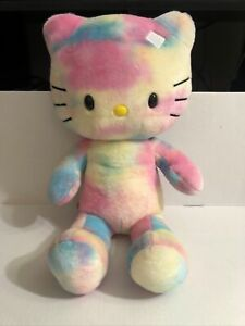 Hello Kitty Tie Dyed Pastel Build A Bear Plush 19 Inches Great Collectable