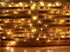 Battery Operated 25FT Warm White LED Extendable String Lights - Starter Set