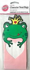"""Wilton 3.25""""x5.5"""" FUN UNIQUE TREAT BAGS 6ct Holiday/Parties Frog Prince w/Heart"""