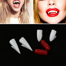 White Vampire Dracula Fangs Caps Teeth Fancy Dress Putty Adhesive Halloween DIY