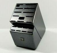 JA Henckels Zwilling Charcoal Black Wooden Knife BLOCK ONLY 20 Slot Storage