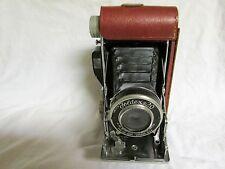 VINTAGE 1950s PHO-TAK FOLDEX 20 CAMERA IN HALF CASE USES 120 FILM
