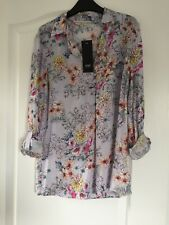 F&F Floral Ladies Blouse Top - UK Size 6 - Tags On