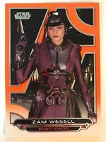 2017 Star Wars Galactic Files Reborn #AOTC-6 Zam Wesell ORANGE NrMint-Mint