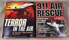 Lot Of 2 Sealed PC Games 911 Air Rescue & Terror In The Air Microsoft