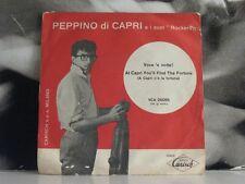 """PEPPINO DI CAPRI - VOCE 'E NOTTE / AT CAPRI YOU'LL FIND.. 45 GIRI 7"""" COVER ROSSA"""