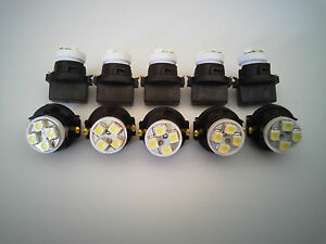 Plymouth 10 White 4 LED Dashboard Instrument Panel Indicator Light Bulb Socket