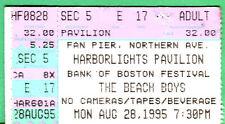 Beach Boys Concert Ticket Stub-8/28/95