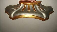 FRENCH 19th ANTIQUE CARVED WOOD CIEL DE LIT CORONA BED CROWN CANOPY