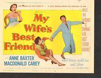 1952 MOVIE LOBBY CARD #3-1125 - TITLE CARD - MY WIFES BEST FRIEND - ANNE BAXTER