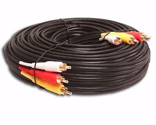 NEW 30 ft FOOT feet 3 RCA TRIPLE COMPOSITE VIDEO AND AUDIO CABLE TV DVD CORD