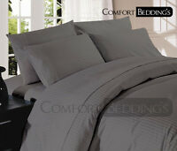 UK Size Bedding Items in 600 TC 100% Egyptian Cotton Hotel Dark Gray in Solid
