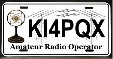 License Plate for Ham Amateur Radio  (Antique mic)   (Half Tags available)