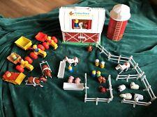 HUGE Bundle LOT: Vintage Little People Farm Barn Silo Animals People 1986