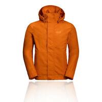 Jack Wolfskin Mens Byron Jacket Top Orange Sports Outdoors Full Zip Hooded