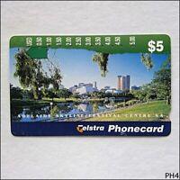 Telstra Cityscapes Adelaide Skyline SA N955732 1158 $5 Phonecard (PH4)