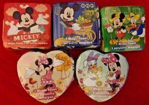 "Disney Mickey and Friends 11"" x 11"" Magic Towel Donald Daisy Minnie or Goofy"