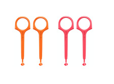 Clear Aligner Removal Tool for Invisalign by PULTOOL -4 Pack- Orange/Pink