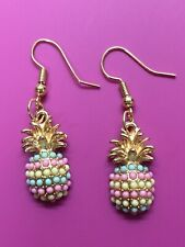Unique Pineapple Earrings/ Dangle Hook Earrings/Summertime/Fruit/Pineapple
