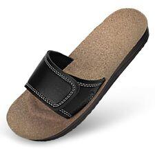 Maseur Gentle Sandals Black W/cork Heel Size 7-7.5