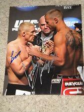 DONALD CERRONE, DENNIS SIVER & DANA WHITE UFC FIGHTERS SIGNED 11x14 PHOTO coa