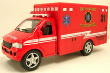 "5"" Kinsfun Paramedic Ambulance Rescue Team Truck W/Open Doors Diecast Model Toy"