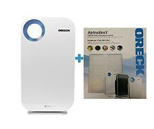 Oreck AirInstinct HEPA Large Room Air Purifier w/Bonus Hepa Filter