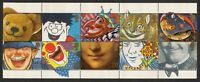 GB 1990 sg1483-1492 1483a Greeting Stamps Smiles booklet block set MNH
